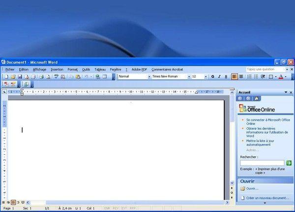 Wd2003 fen tre word ne s agrandit plus for Fenetre qui ne s ouvre pas
